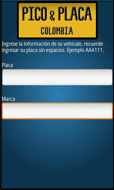 Pico y placa - screenshot
