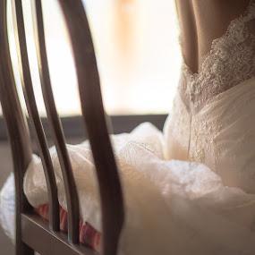 Dress by Jorge Asad - Wedding Details ( details, elegance, wedding, dress, art, beauty, bride, party, daylight )