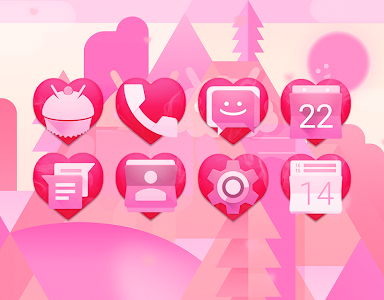 HOT! - Pink Heart Theme v1.2