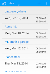 Workplace Timesheet - screenshot thumbnail