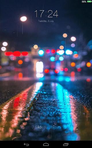 玩免費個人化APP|下載雨夜城市锁定屏幕 app不用錢|硬是要APP