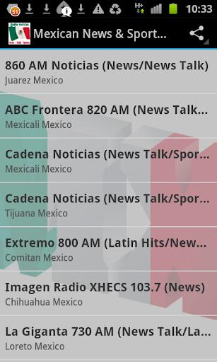 Mexican News Sports Radio