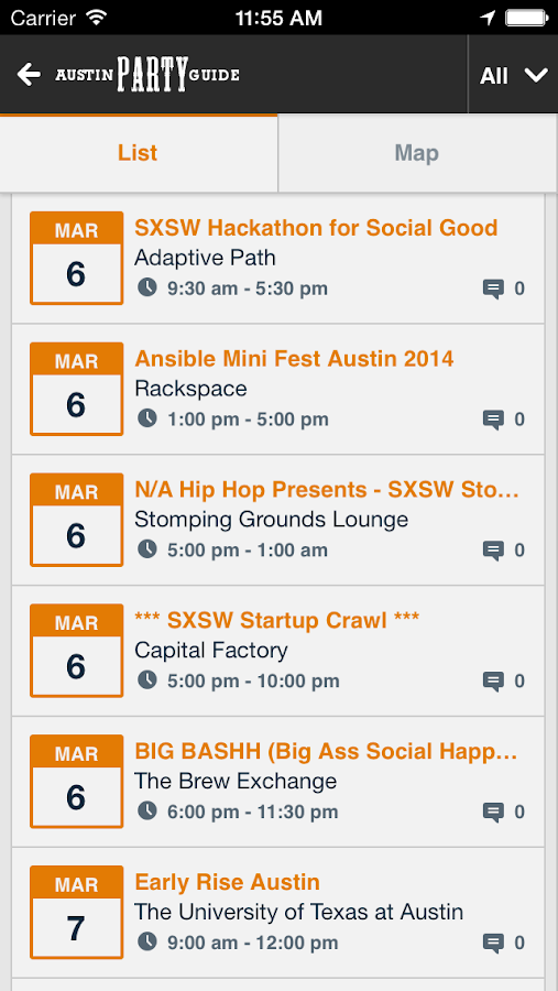 Austin Party Guide- screenshot