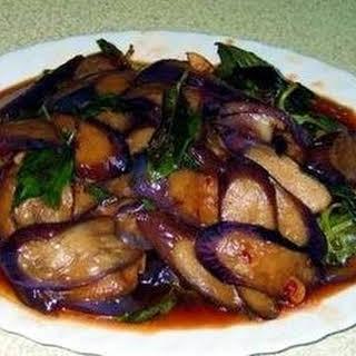 Stir-fry Eggplant and Basil.