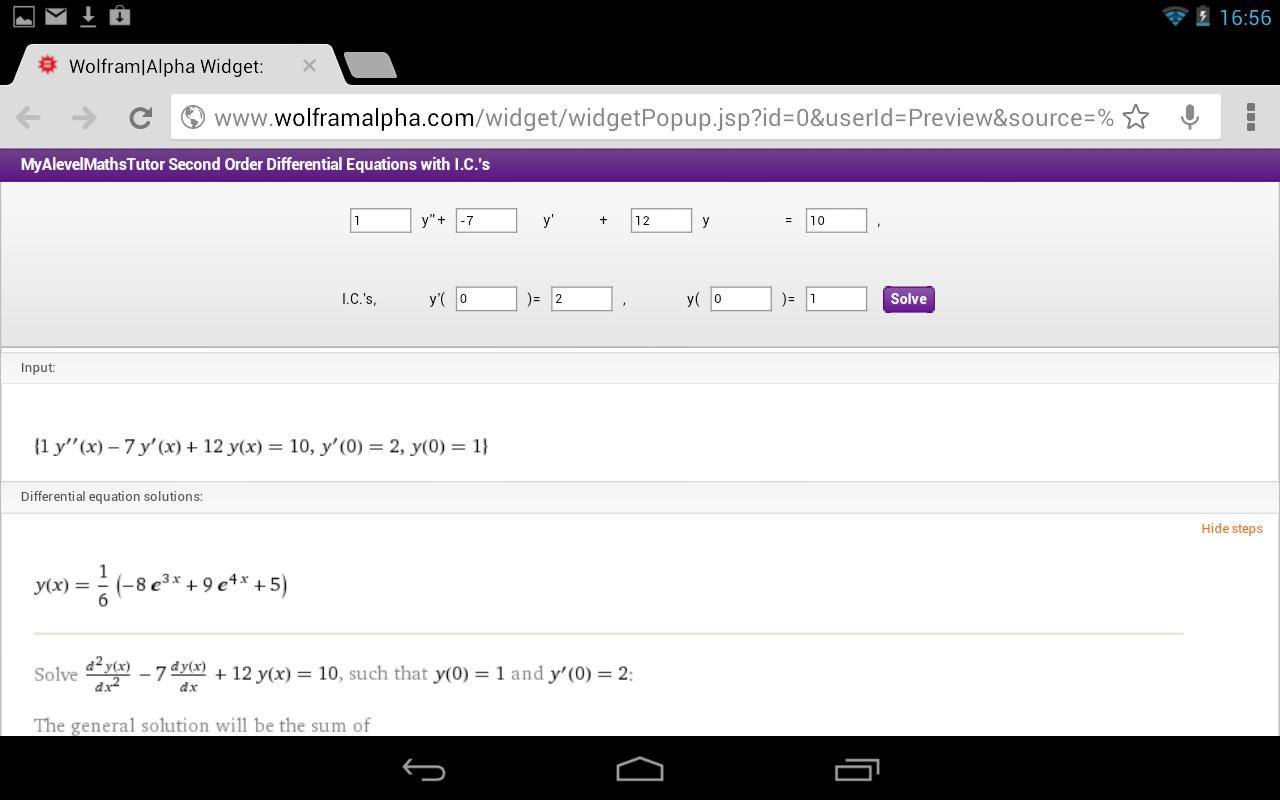 Differential Equations II- screenshot