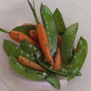 Sauteed Snow Peas & Baby Carrots.