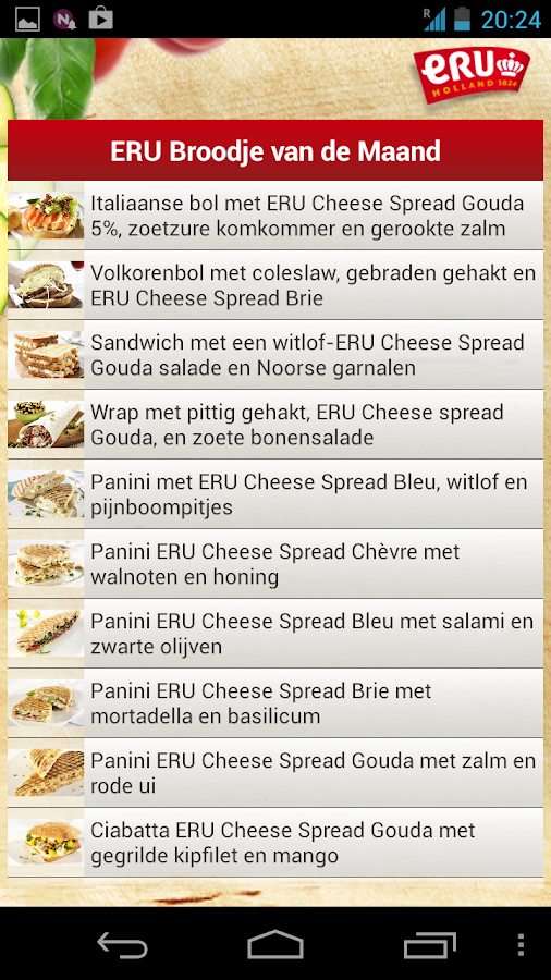 ERU Lunch van de Maand- screenshot
