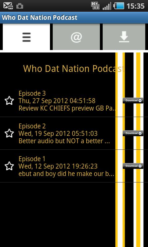 Who Dat Nation Podcast - screenshot