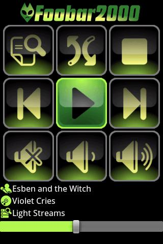FooBar 2000 Remote Control - screenshot