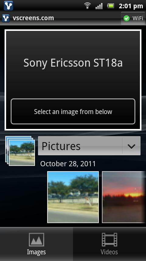 vscreens photo sharing beta - screenshot