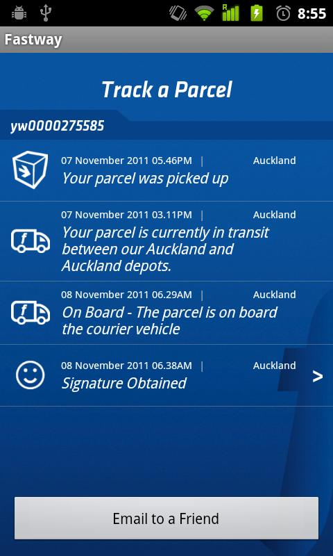 Fastway Couriers- screenshot