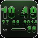 Digi Clock Widget Emerald icon