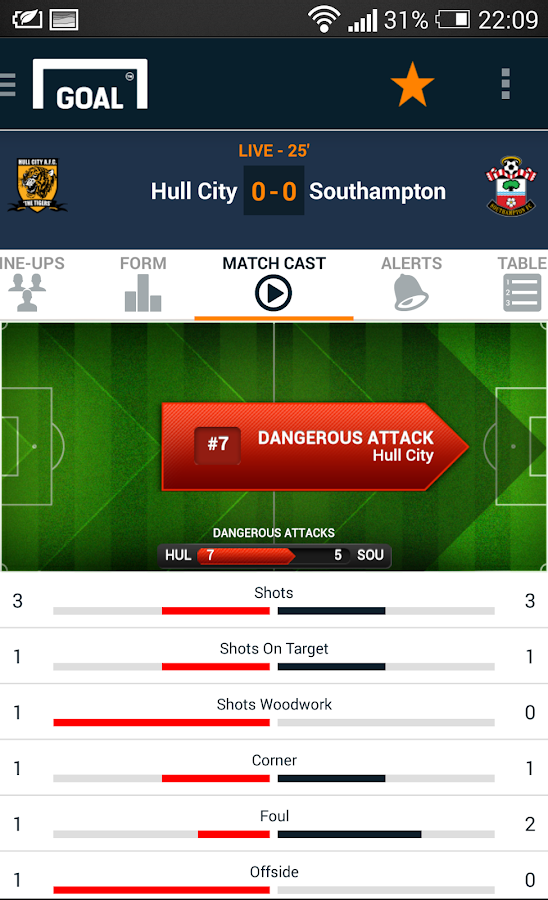 Goal Live Scores - screenshot