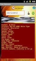 Screenshot of Feng Shui Five Elements 五行