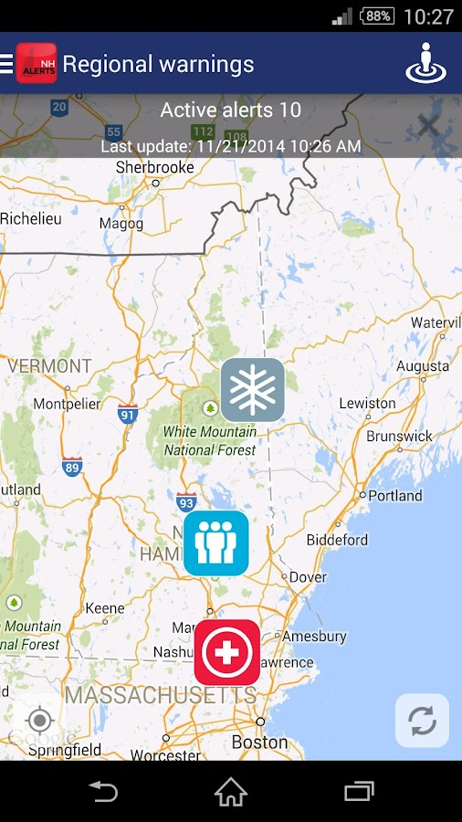 NH Alerts- screenshot