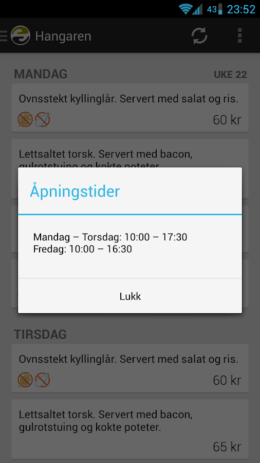 SiT Middag - screenshot
