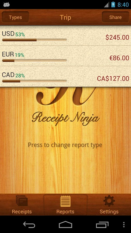 Receipt Ninja - Split Expenses - screenshot