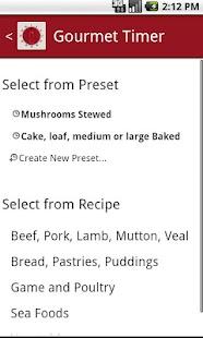 Gourmet Timer FREE- screenshot thumbnail