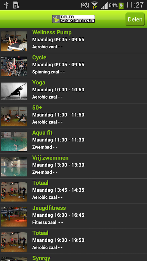Delta sportcentrum - screenshot