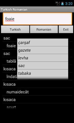 Turkish Romanian Dictionary