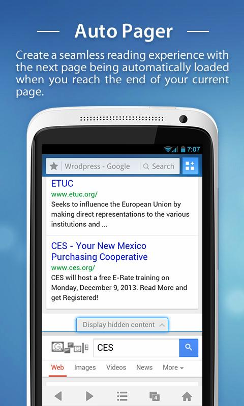 UC Browser for Android - screenshot