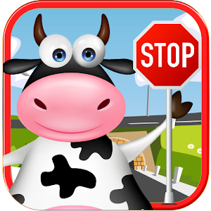 Traffic Cow Icon