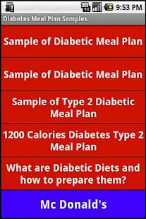 Diabetic Diet Samples - screenshot thumbnail