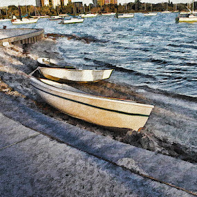 Splash Of Paint by Jackie Sleter - Digital Art Places ( splash, bay, boats, paint, sarasota )