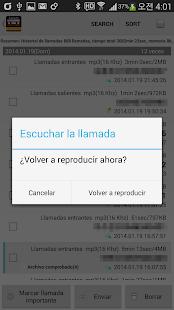 Grabadora auto de llamadas - screenshot thumbnail