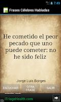 Screenshot of Frases Celebres Habladas