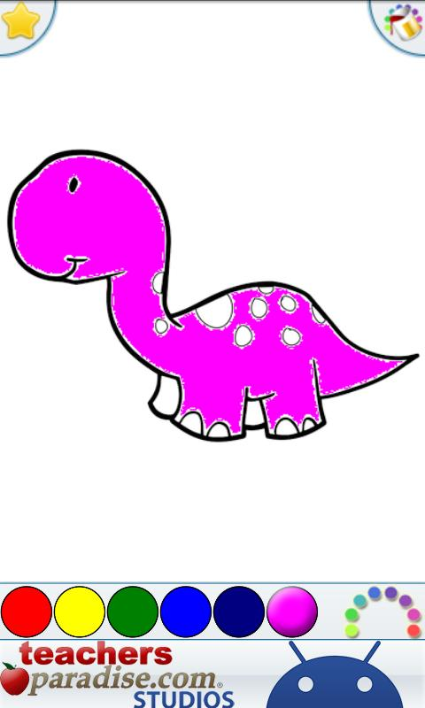 Dinosaurs Coloring Book Screenshot
