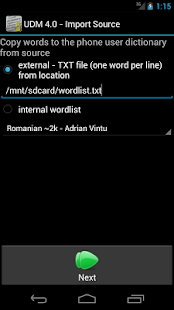 User Dictionary Manager (UDM) - screenshot thumbnail