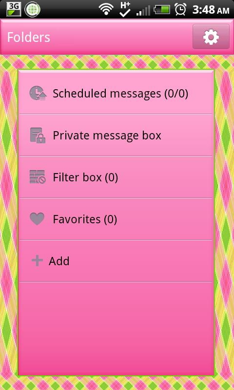 GO SMS THEME|PrettyPattern - screenshot