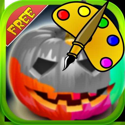休闲のぬりえ:ハロウィンかぼちゃ LOGO-記事Game