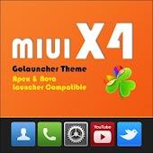 MIUI X4 Go/Apex/ADW Theme FREE