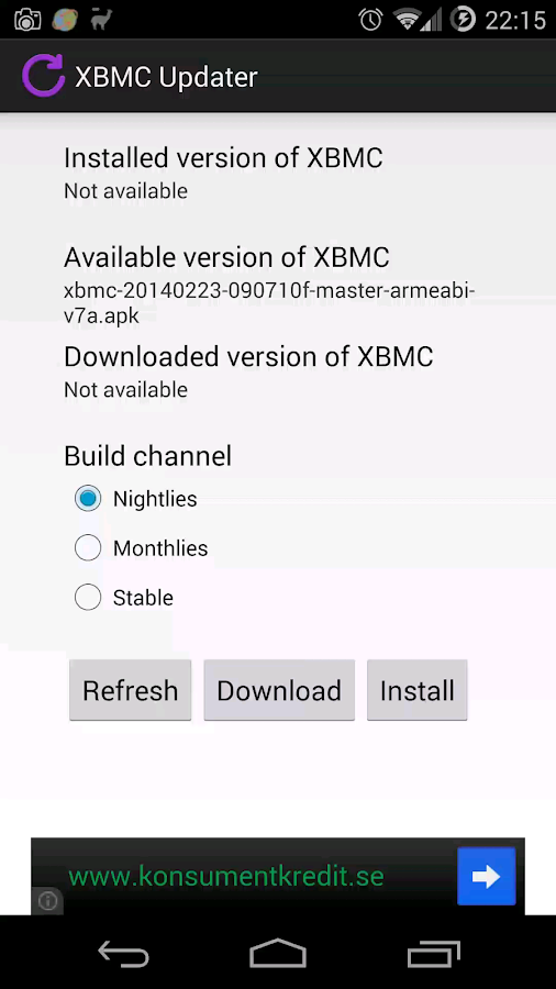 XBMC Updater - screenshot