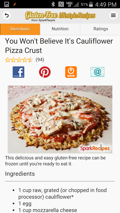 Gluten-Free Lifestyle Recipes- screenshot