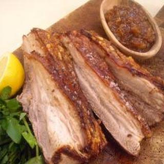 Pork Belly with Chutney Recipe
