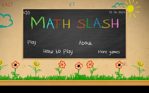 玩免費教育APP|下載Math Slash app不用錢|硬是要APP