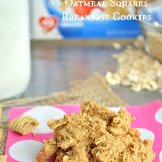 {No Bake} Quaker®Oatmeal Squares Breakfast Cookies.