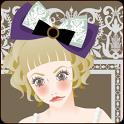 おしゃれでかわいい女の子ライブ壁紙1(時計)無料版 icon