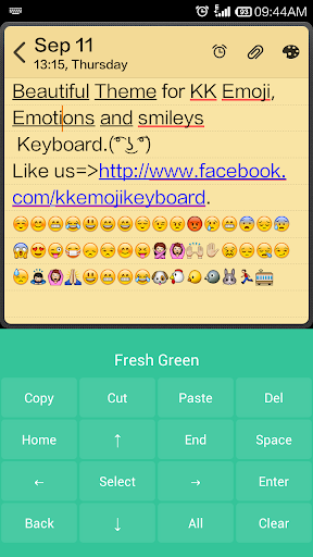 【免費個人化App】Fresh Green - Emoji Keyboard-APP點子