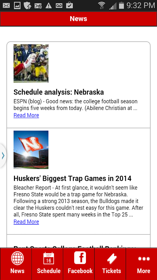 Nebraska Football- screenshot