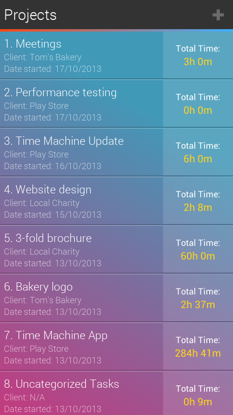 Time Machine: Time Tracking - screenshot