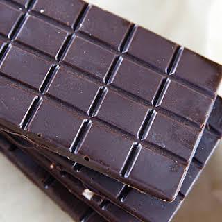Homemade Dark Chocolate Bars.