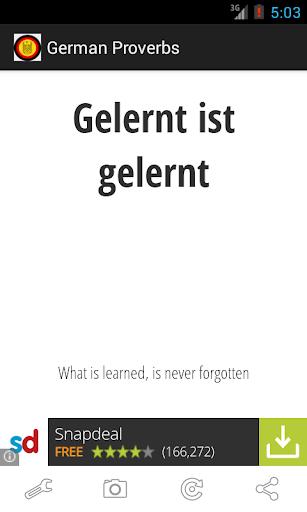 免費生活App|German Proverbs|阿達玩APP