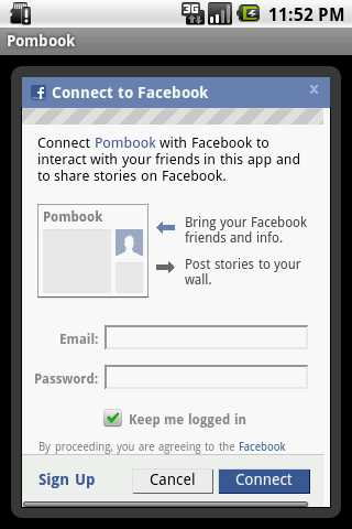 Pombook - screenshot