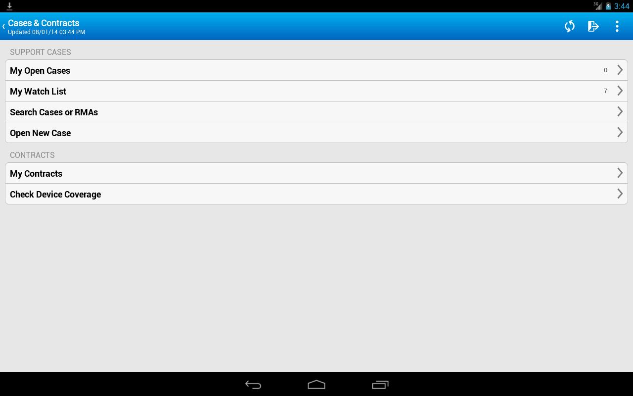 Cisco Technical Support - screenshot