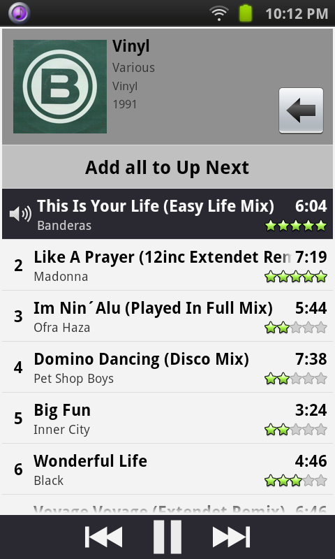 Remote for iTunes DJ & UpNext - screenshot