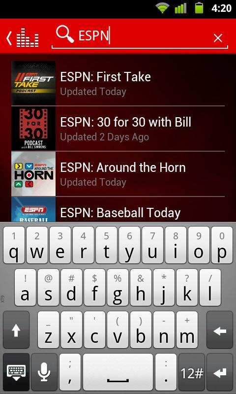 ESPN Radio screenshot #2